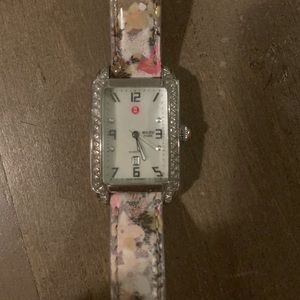 Michele Milou park diamond watch